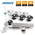 ANNKE 4CH 960P HD Wireless Network  IP CCTV Security Camera System Indoor Outdoor 4pcs wifi IP cameras Video Surveillance kits