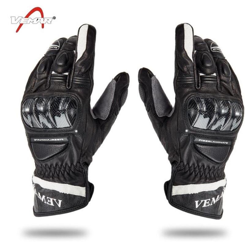 VEMAR gants de Moto en cuir microfibre équitation écran tactile gants hommes été Motocross gants Moto équipement de protection