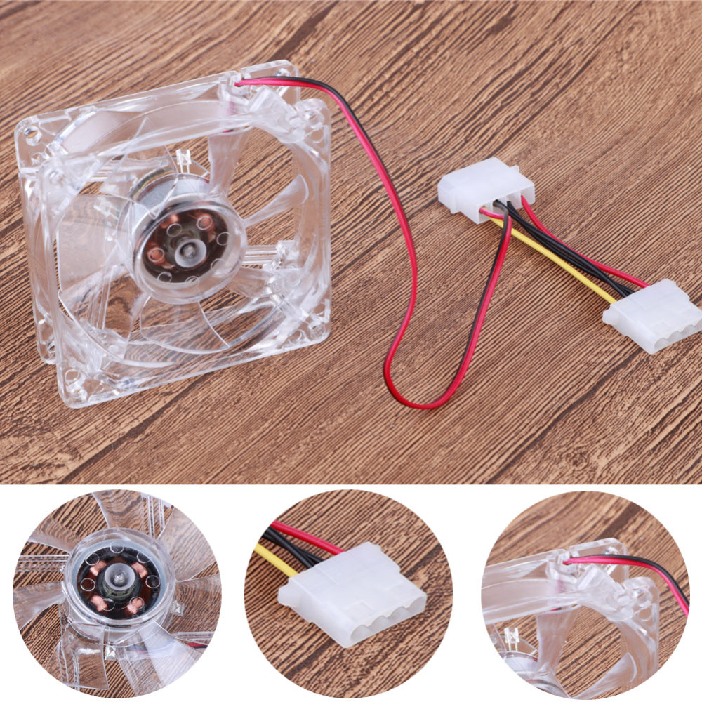 8cm Silent DC <font><b>12V</b></font> LED Luminous Chassis <font><b>Fan</b></font> <font><b>PC</b></font> Computer <font><b>80mm</b></font> Cooling <font><b>Fan</b></font> image
