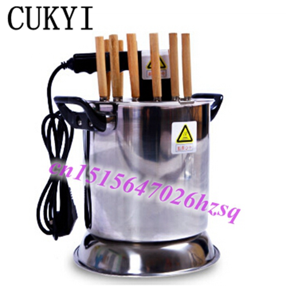 CUKYI electric cook griddle 6 mins finish safe convenient no smoke Quick BBQ Household  cabinets oven The skewers machine indoor salter air fryer home high capacity multifunction no smoke chicken wings fries machine intelligent electric fryer