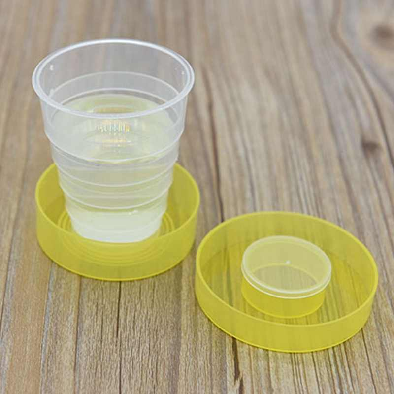 Wholesale Folding Portable Collapsible Plastic Cups Telescopic Cups Camping Hiking Drinkware