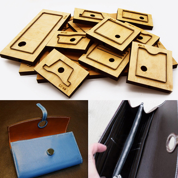 herramientas para cuero leather fabric cutter wallet card holder die cutter knife mould hand punch tool pattern
