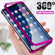 H & Mewah 360 Penutup Ponsel Case untuk Samsung Galaxy S10 S9 S8 Plus S7 Edge Note 9 8 Shockproof Cover S10 Lite Fundas Capa(China)