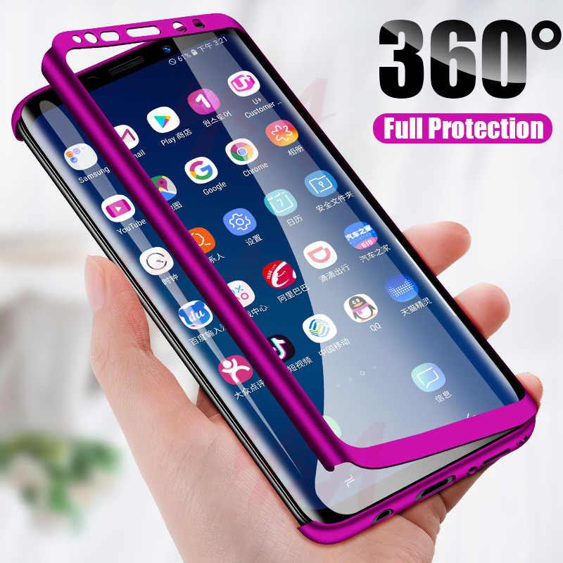 H & A Luxury 360 ครอบคลุมกรณีโทรศัพท์สำหรับ Samsung Galaxy S10 S9 S8 PLUS S7 EDGE หมายเหตุ 9 8 กันกระแทก S10 Lite Fundas Capa
