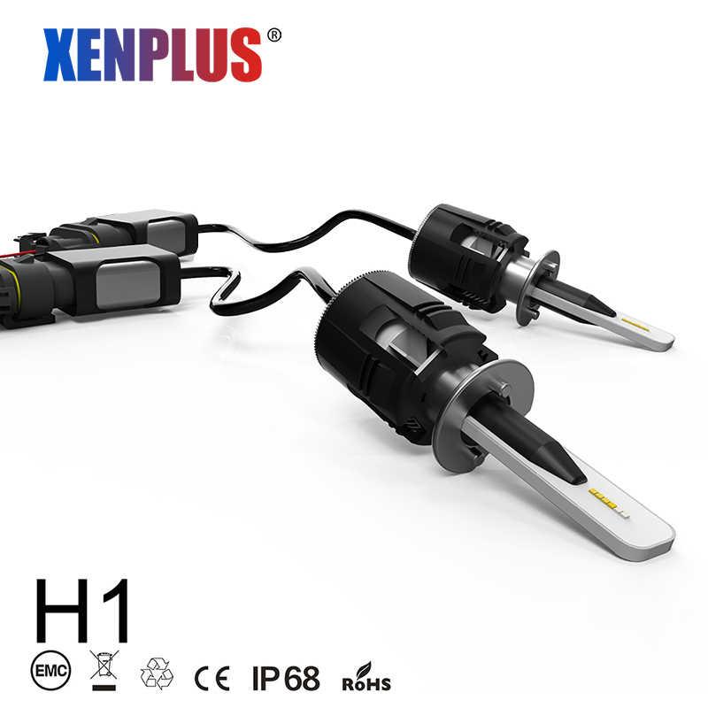 Xenplus Mini H1 LED H3 H7 H8 H11 HB3 HB4 9004 H13 9007 H4 Car light bulb 6000K 7200LM 48W 12V CSP Chip motorcycle headlight