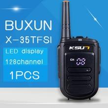 Free Shipping Walkie Talkie Buxun X-35tfsi 8w Handheld Baofeng Uhf 400-470mhz 128channel LED display Two Way Radio Portable Cb