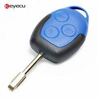 Keyecu Blu Remote Key Fob 3 Button 433 Mhz con 4D63 Chip per Ford Transit WM VM 2004-2014 F021 Stelo della Chiave