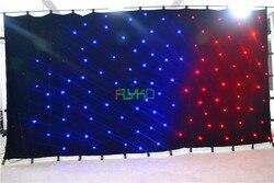 Elastyczne RGB kryty led matrycy gwiazda tkaniny 3x6 m ognioodporne darmowa wysyłka|Oświetlenie sceniczne|Lampy i oświetlenie -