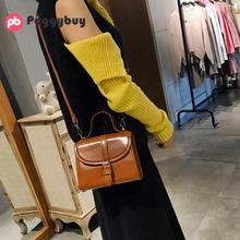 2018 New Retro Fashion Women Messenger Bags Oil Wax Leather Simple Generous Trend Wild  Small Square Shoulder Handbags