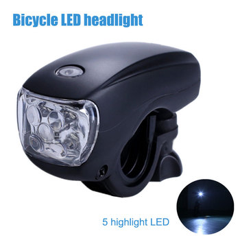 New 5 LED Cycling Bike Bicycle Super Bright Light Front Head 3 Modes Lamp Waterproof Safety Warning Flashlight 88 shop Y image