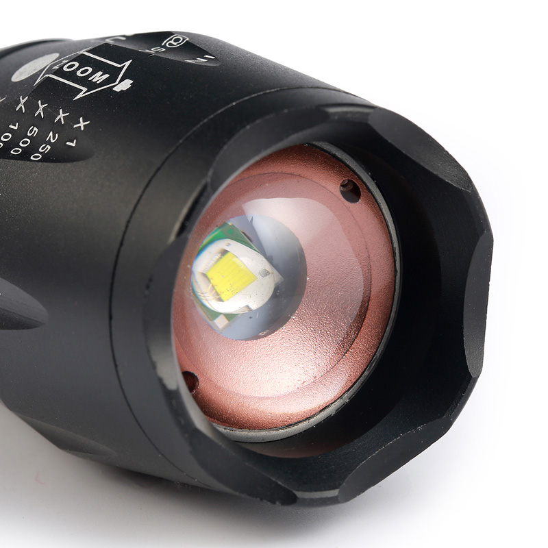 ZK20 Dropshipping T6 8000LM LED Linterna 5 Modo Zoomable LED Antorcha - Iluminación portatil - foto 3