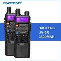 2pcs/lot Baofeng UV 5R Walkie Talkie VHF UHF Dual Band 3800mAh Long Standby 5W Portable Walkie Talkies Two Way Radio Transceiver