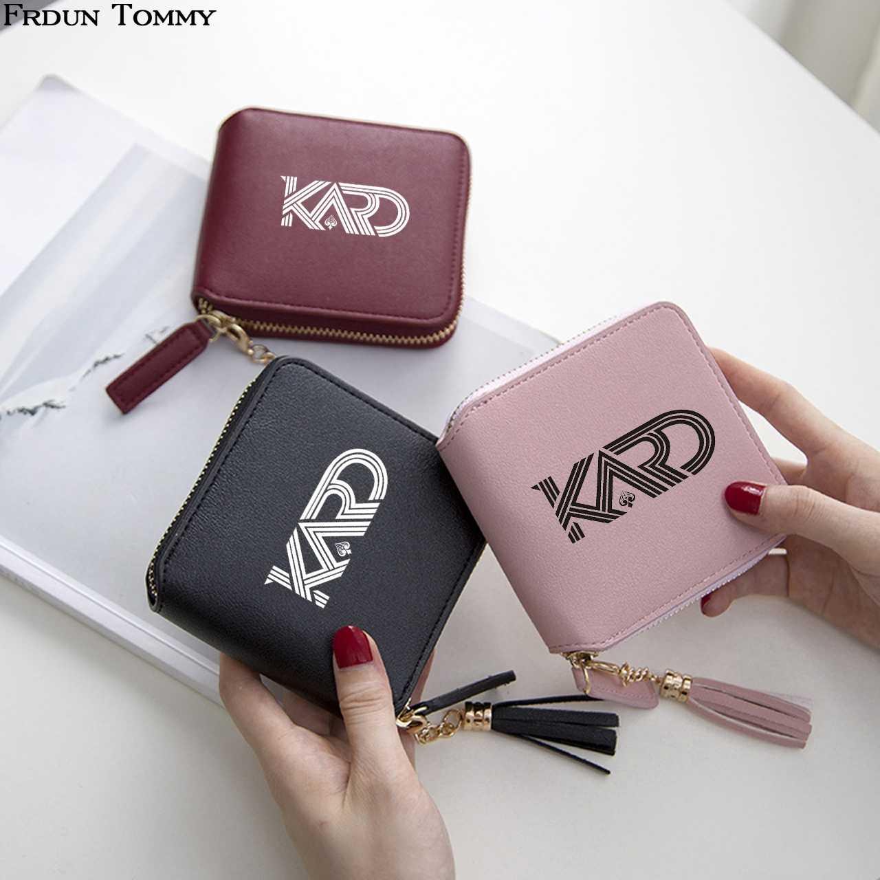 Kard Wallet Kpop Mini Short Zipper Card BM 3D PU Leather Wallets