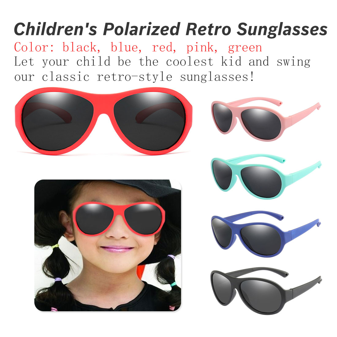 2019 Fashion Kids Polarized Sunglasses Children Oval Sun Glasses Girls Boys Silicone Uv400 Child Mirror Baby Eyewear Gafas Tr90 Promote The Production Of Body Fluid And Saliva Girl's Accessories