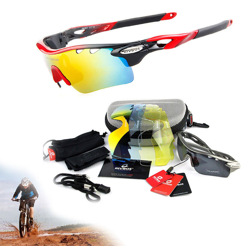 Men Women Goggles Polarized Sunglasses 5 Interchangble Lens UV400 Glasses Riding Bike Eyewear Polarised Goggles Cycling Eyewear