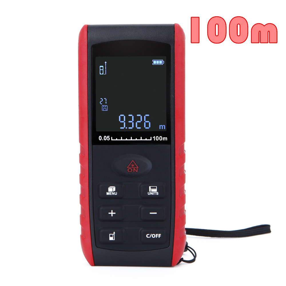 ФОТО by dhl/fedex 10pcs/lot 100m Handheld Digital Laser Distance Meter Range Finder Measure  Rangefinders