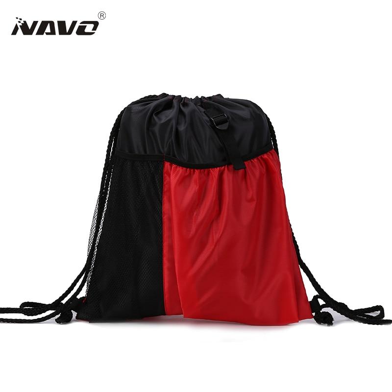 Drawstring Backpack Women Men Shoe Bags Large Capacity Mochila Travel Beach Bag Girls Children School Bag Tote Sacks String Bags navo fashion drawstring backpack shoe bag multi room 100