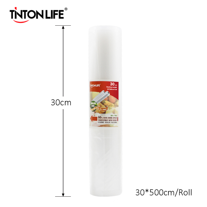 TINTON LIFE 30cmx500cm/Roll Vacuum Sealer Food Saver Bag Food Storage Bags lagute vacuum sealer saver bags rolls fresh keeping for kitchen food storage all sizes 8 x 16 11 x 16 8 x 50 11 x 50