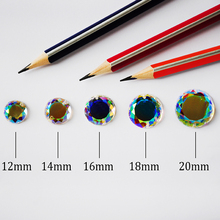 2010TH 2 holes DIY Sew On Crystals Rainbow AB Strass Flat Back Glass gem Stone Round Garment Dress Accessories