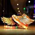 BBX Brand LED Shoes Kids USB Charging Light Up For Boy And Girl Children Casual Sneakers Toddler To Big Kid Sport Shoes 1557