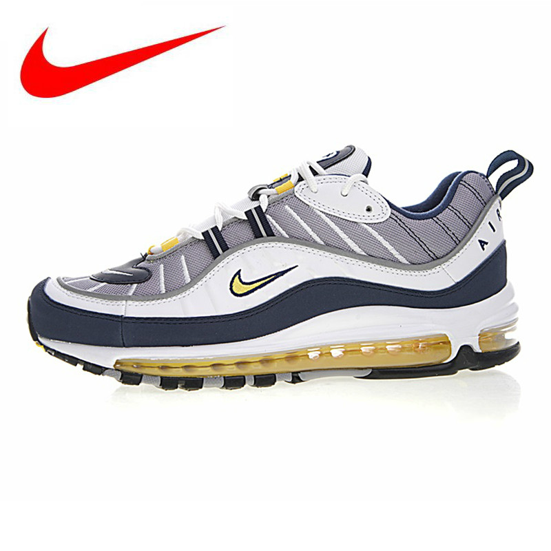 big sale a3ab3 60103 Detail Feedback Questions about Nike Air Max 98 Gundam Men Running Shoes, White   Yellow, Shock Absorption Non Slip Breathable,Outdoor Sneakers Shoes  640774 ...