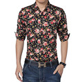 Whole New 2017High Quality Flower Shirt Men Casual Shirt Long Sleeve Shirt Large Size