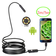 720 P 8 Mm OTG Android Endoskop Kamera 2 M/5 M Video Endoskop Borescope Inspeksi Kamera Windows USB endoskopi untuk Mobil(China)