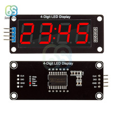 "TM1637 Digitale Klok Dubbele Dots Module 4-Digit LED Klok 0.56 ""0.56 Inch 7 Segmenten Buis Module Rood display(China)"