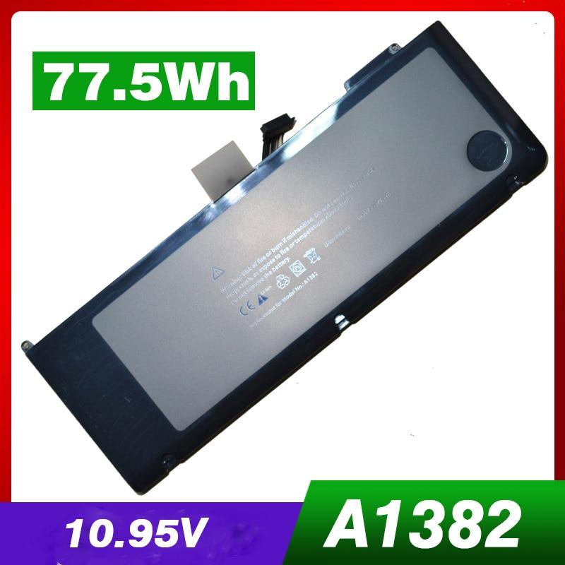 "77.5WH מחשב נייד סוללה A1382 עבור אפל A1286 2009 גרסה עבור MacBook Pro 15 ""סדרת MC721 MC723 MB985 MB986"
