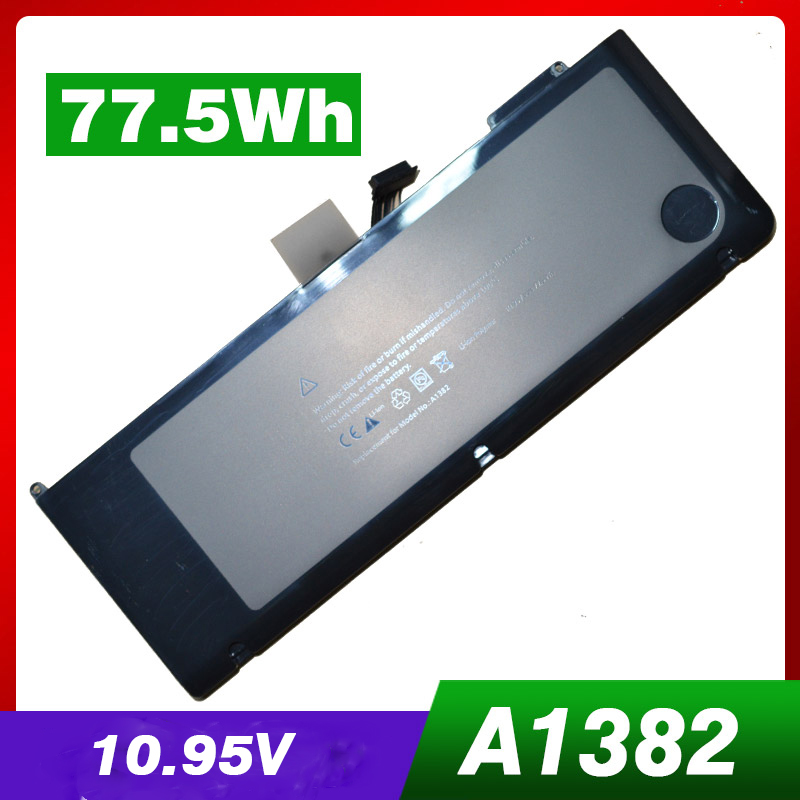 77.5WH laptop battery A1382 for Apple A1286 2009 Version for MacBook Pro 15