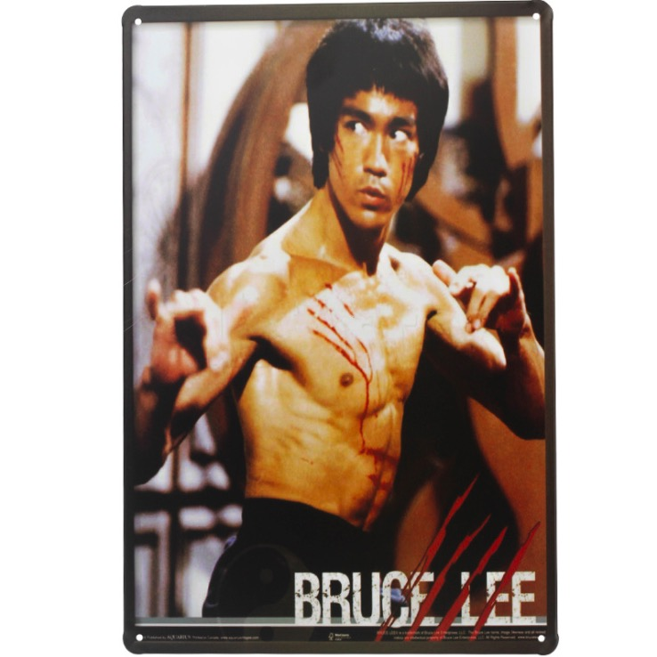 1 pc Bruce lee Martial art karate movie film Tin Plate Sign wall man cave Decoration Man cave Art Poster metal vintage home image