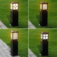 Solar Bollard Light Garden pillar Pathway Lamp outdoor waterproof Lawn Lamp Aluminum Lighting Fixture 63cm high 2pcs/lot