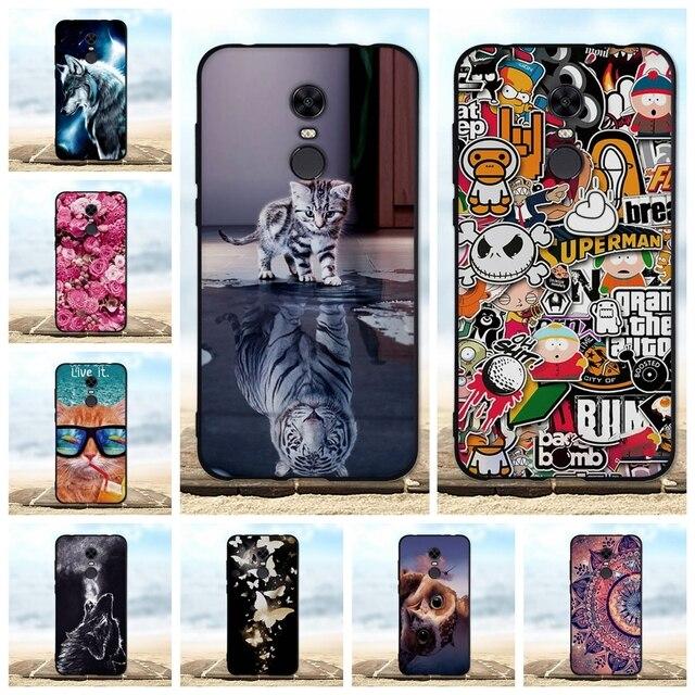 For Xiaomi Redmi 5 Plus Case Soft Silicone TPU Black Cover For Xiaomi Redmi 5 Plus 5+ Case For Redmi5 Plus / Cover Redmi 5 Cases