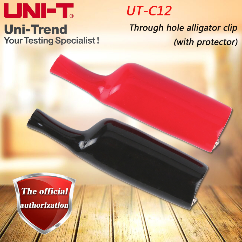 UNI-T UT-C12 Straight-hole Alligator Clip (with protective film) for <font><b>UT105</b></font> / 106/108/109, UT71 series, UT803, UT804, UT805A image