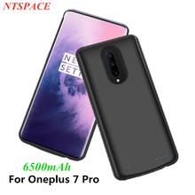 Fashion External Battery Charger Cases For Oneplus 7 Pro Battery Case 6500mAh Portable Power Bank Shockproof Charging Back Cover