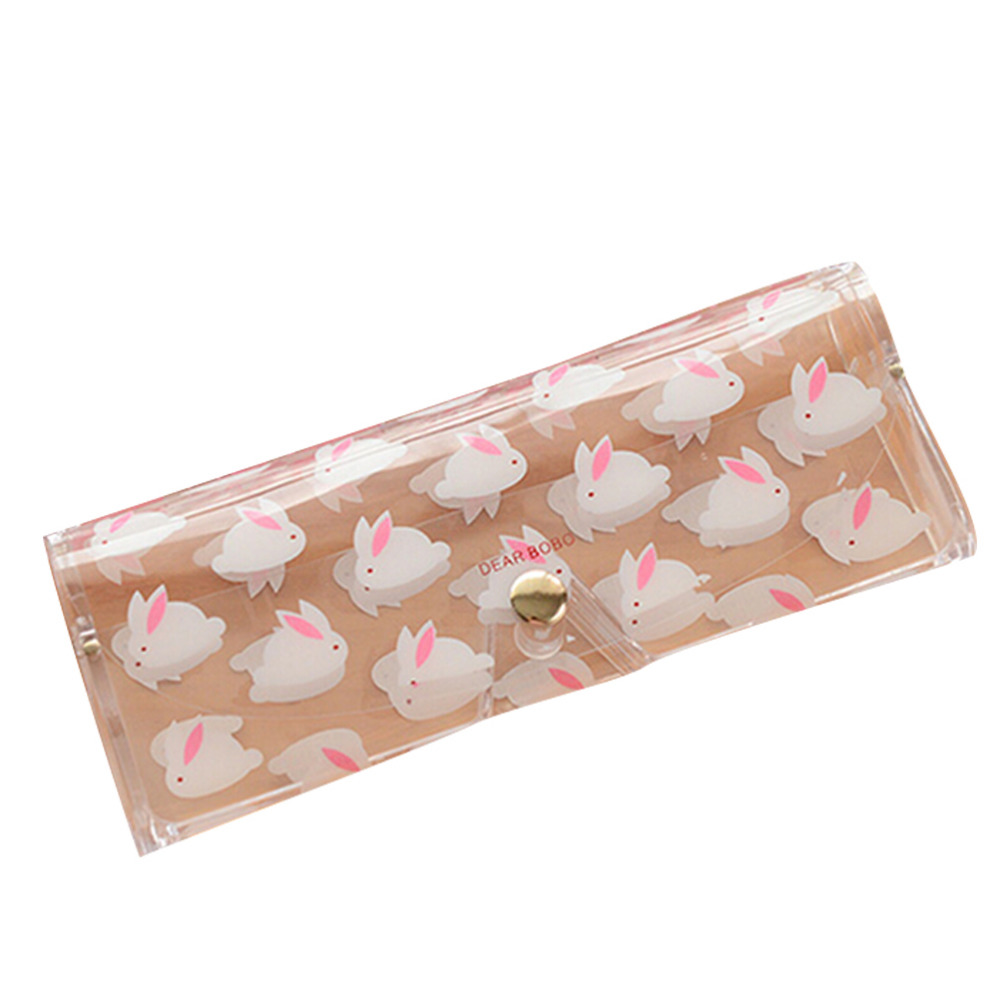 1 Pcs Kawaii Cartoon Animals PVC Glasses Box Cute Girl's Transparent Glasses Case protable Eyewear Boxes WY2703