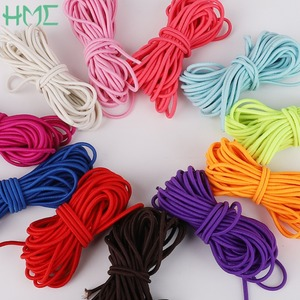 2.5mm 5m/roll Colorful DIY Accessories Round Elastic Band Rope Rubber Line Cord for DIY Outdoor Project Jewelry Making Bracelet