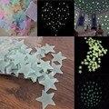 100 Unids/set Casa Techo Pared Brillan En La Oscuridad Estrellas Pegatinas Decal Bebé Embroma el Dormitorio