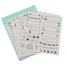 Third Quarter меховой брелок для телефона Стикеры для украшения альбома Скрапбукинг дневник наклейки детские Студенческие канцелярские наклейки