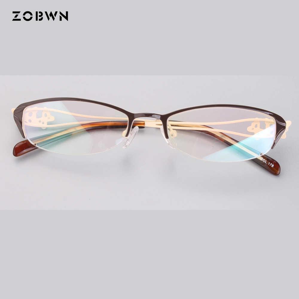 8aec48ca22c Fashion ladies Optical Glasses Transparent Lens Myopia Eyeglasses Women  Vintage Metal Spectacles Womens Designer Eyeglass Frames