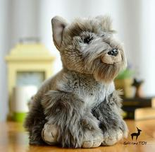 Spuer kawaii Schnauzer  Dll   plush Animals Toys for children Simulation   Dogs Car Home Decoration Gifts