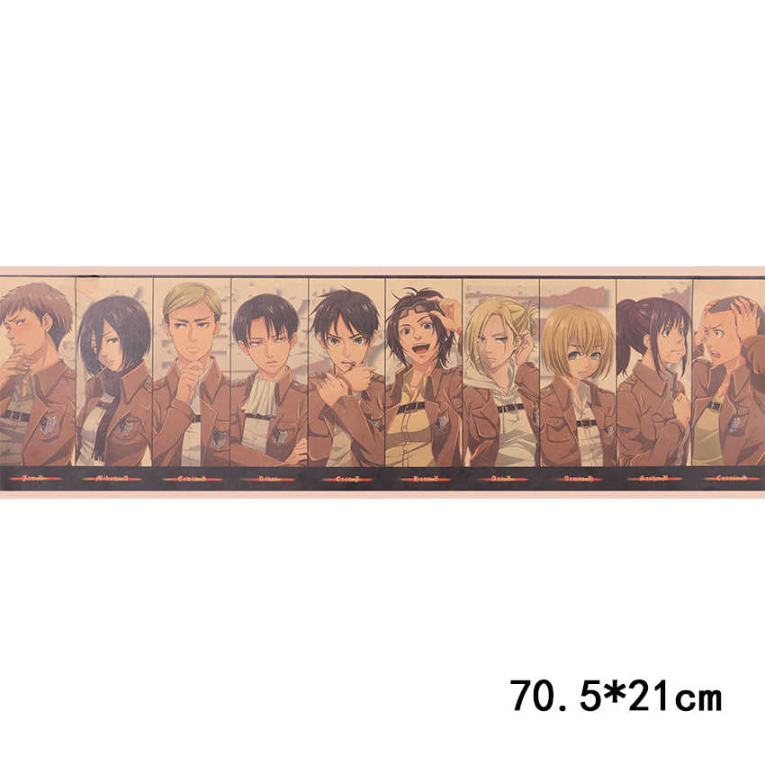 עניבת טיט התקפה על טיטאן אופי אוסף פוסטר קלאסי קריקטורה אנימה קראפט נייר קיר מדבקת חדר קישוט טפט
