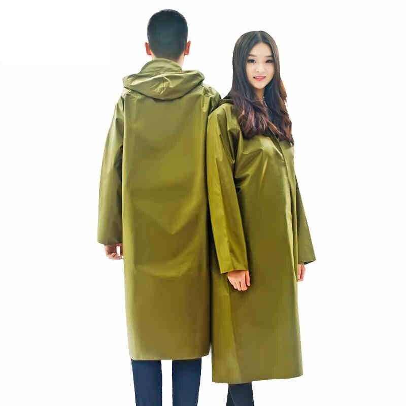 Extérieur toile imperméable manteau unisexe Long imperméable Poncho imperméable vêtements De pluie Ponchos Capa De Chuva Chubasqueros Mujer grande taille