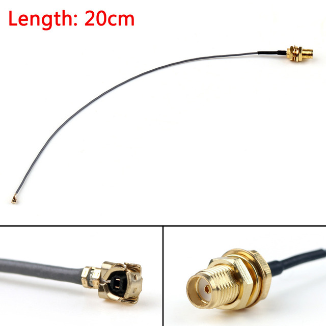 Areyourshop Sale 20cm Cable SMA Female Bulkhead Jack To IPX U.FL PCI Card 1.13mm Pigtail 8in RF  Jac