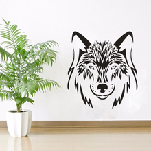 Wolf Dog Animals Wall Sticker Wolves Design Decal Home Living Room Decor Wild Animal Mural Vinyl Art AY1217