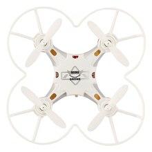 Bolso Mini Drone 4CH 6 Axis Gyro RC Micro Quadcopter com o Flip 3D, Modo Headless, uma Tecla de Retorno Nano Helicópteros RTF Modo 2 branco