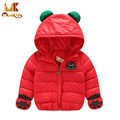 Monkids Windproof Down Jacket Girls Winter Jacket Girls Parkas Winter Coat Children Clothing Warm Kids Clothes Protection Hand