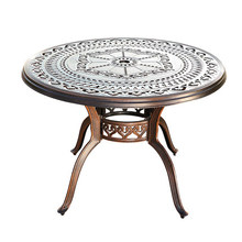 Outdoor cast aluminum table home disassembly barbecue table patio outdoor table recycled earth friendly outdoor patio round dining table khaki