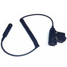 U94 PTT кабель для BAOFENG uv 9R A58 9rplus Walkie Talkie 2 Pin Plug для Z Tactical Bowman Elite II Гарнитура