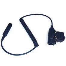 U94 PTT Cable for BAOFENG uv 9R A58 9RPLUS Walkie Talkie 2 Pin Plug for Z Tactical Bowman Elite II Headset